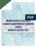 Implementación Del Sistema de Calidad en Laboratorios