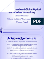 Towards Broadband Global Optical and Wireless Networking