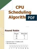 CPU Scheduling-Roud Robin