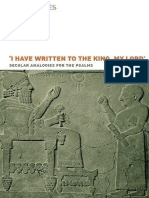 Roger Tomes I have written to the king, my lord Secular Analogies for the Psalms Hebrew Bible Monographs 1.pdf