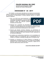 COMUNICADO PNP N° 35 - 2017