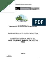Guía - Inventario Infraestructura Hidráulica