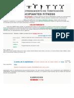 Fitness Princip Entrenamiento de Tonificación