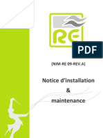 Notice Installation & Mainteance - RE
