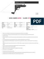 Ruger Mark IV Tactical Spec Sheet