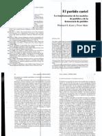 Katz _ Mair 2004 El Partido Cartel_La Transformación de Los Modelos de Partidos y de La Democracia de Partidos