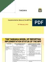 Www.globaldialogue.info Mpf Implementation Tanzania