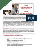 Especializacion en Gestion Publica