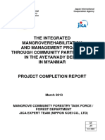JICA 2013 Mangrove Rehabilitation Project Delta Completion Report