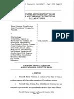 2017-09-06_Confederate Monuments_Plaintiffs' Original Complaint