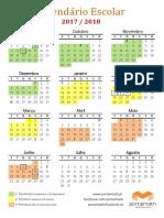 Calendario Escolar 2017 18 Cores