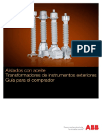 Transformadores de Instrumentos Exteriores, Aislados Con Aceite