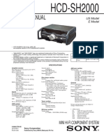 Manual de equipo Sony HCD-SH2000