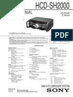 Manual de equipo Sony HCD-SH2000