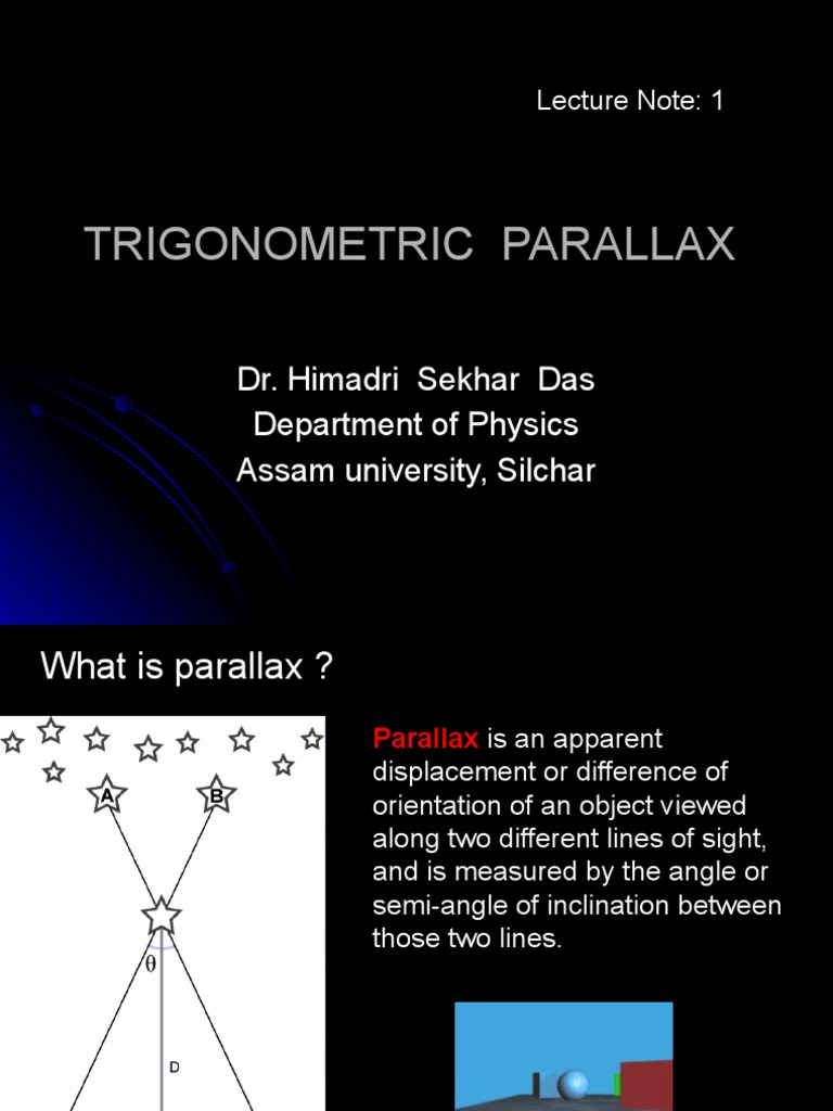 Trigonometric Parallax