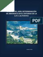 Determinacion de Amoniaco en El Entorno de UPT as Pontes. Octubre 2014 (1)