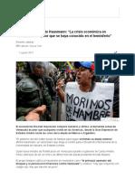 """Entrevista a Ricardo Hausmann_ """"La Crisis Económica en Venezuela Es La Peor Que Se Haya Conocido en El Hemisferio"""" - BBC Mundo"""