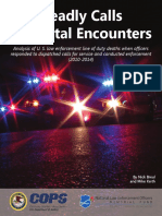Department of Justice report on officer deaths