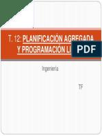 Tema 12. Planificación Agregada