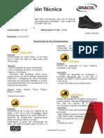 Ficha Tecnica - Bota Bracol Cordones