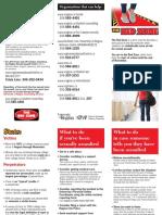 Brochure campagne de sensibilisation «Red Zone» (en anglais seulement)