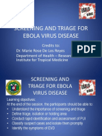 Jet Ebola Screening and Triage