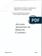 Anuario Argentino de Derecho Canónico 2002