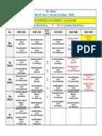 CLASS SCHEDULE _ SEM-1 (BATCH OF 2018)  27-06-16 to 01-07-16