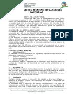 Especificaciones_tecnicas Instalaciones Sanitarias