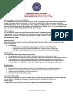 development intern application