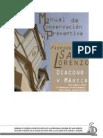 Manual de Conservación Preventiva San Lorenzo Diacono y Martir, Santa Ana, El Salvador, 2016