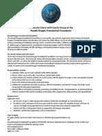 events internship description 2014