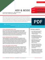Datasheet Firebox M400 M500