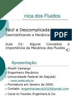 Mecânica Dos Fluidos - Aula 1 - Apresentação - R1