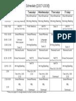 racerunner daily schedule 17-18