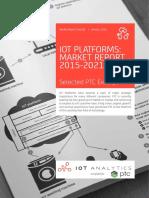 IoT Platforms; Market Report, 2015-2021