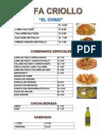 Chifa Criollo