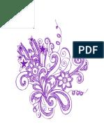 Hand Drawn Purple Flower