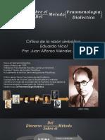 Eduardo Nicol, Discurso Sobre El Método