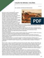 Mulheres e Educação No Brasil Colônia