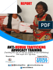 Report on Anti-Human Trafficking Advocacy Training for Volunteers