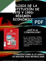 Análisis de La Constitución de 1979 y 1993