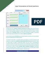 Aprende a Manejar Formularios en Excel