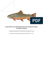 Eastern Brook Trout Monitoring Protocols for Headwater Streams of the Virginia Piedmont