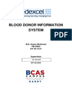 Blood Donor Information and Management S