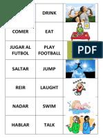 Vocabulario Verbos Ingles