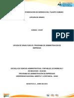 Presentación General Diplomado de Profundizacion Gerencia Del Talento Humano 2015-2-1