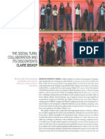 """Claire Bishop """"The Social Turn"""