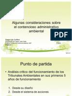 Consideraciones Sobre El Contencioso Administrativo Ambiental