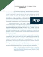 A INFORMÁTICA COMO RECURSO PARA O ENSINO DE LÍNGUA POTUGUÊSA.docx